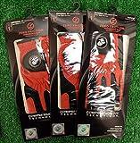 3 Zero Friction Men's LH Universal Fit Golf Gloves - Marines - Red