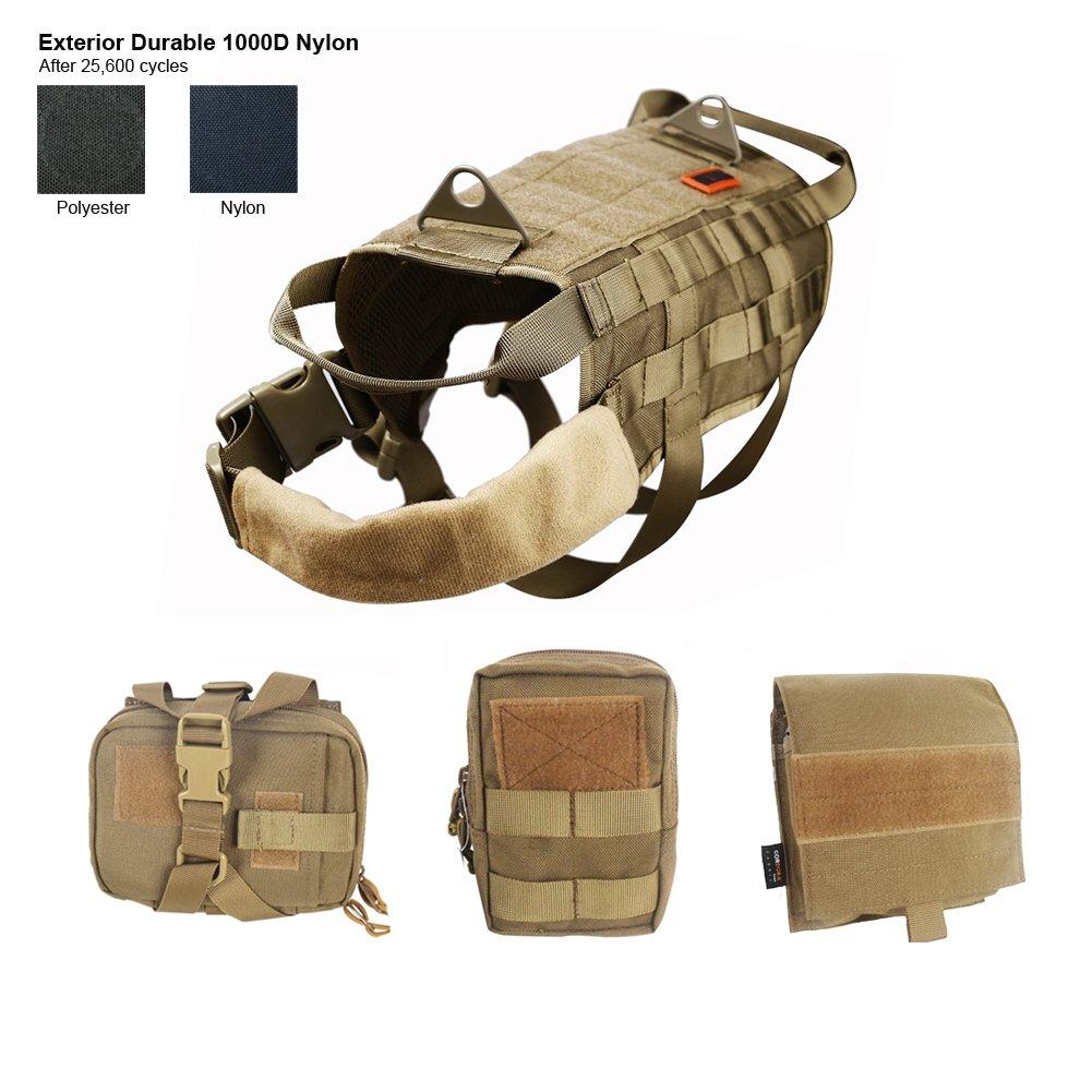OneTigris Chaleco arnés para perro con bolsillos, mediano, Dog Harness Vest With Accessory Pouch, canela, XL: Amazon.es: Deportes y aire libre