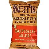 Kettle Brand Krinkle Cut Potato Chips, Buffalo Bleu, 8.5-Ounce Bags (Pack of 12)