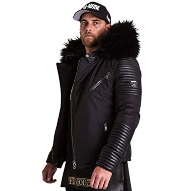 6238489503c Ventiuno Ekos Veste Doudoune Bi-matière Fourrure véritable Noir Taille Max  - Cuir d