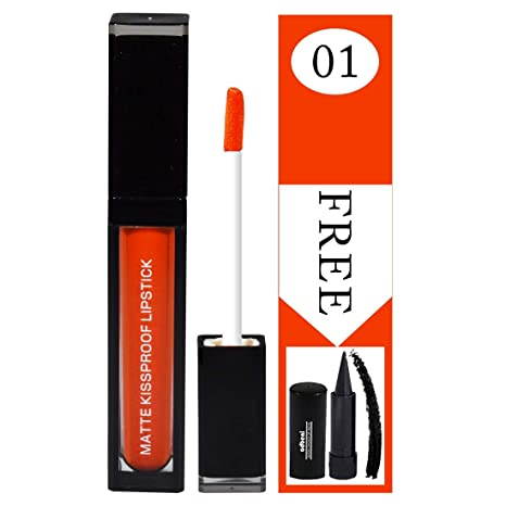 Buy APK Matte Kissproof Lipstick PK36A-01 With Free Adbeni kajal
