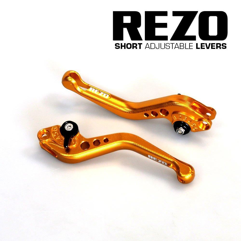 Rezo rez-setv2 –  0-gld-0035 V2 corto regolabile leve moto CNC per Kawasaki Z750 2007 –  2012, oro China REZ-SETV2-0-GLD-0035