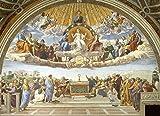Disputation of Holy Sacrament by Raphael - 21'' x 28'' Premium Canvas Print