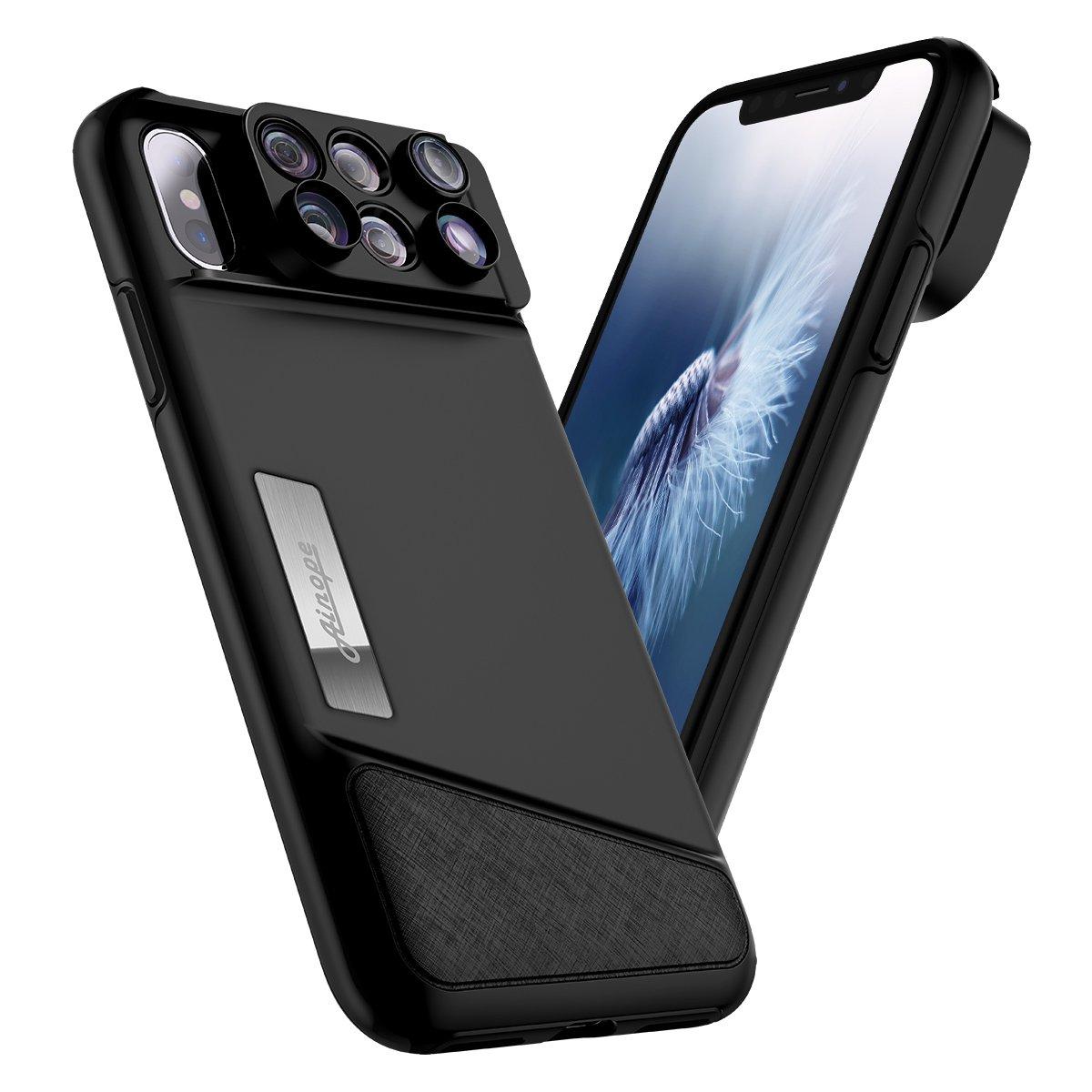 quality design eba13 57799 AINOPE iPhone X Lens, 4K HD [0.65X] Wide Angle, 15X Macro, 180° Fisheye  Camera Lenses Kit 3-in-1, Portable iPhone Xs Lens Kit for Apple iPhone  10/Xs ...