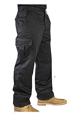 26758d0da143 Road Master Mens Cargo Heavy Duty Work Trousers. 5 Pockets Work Wear Pants   Amazon.co.uk  Clothing