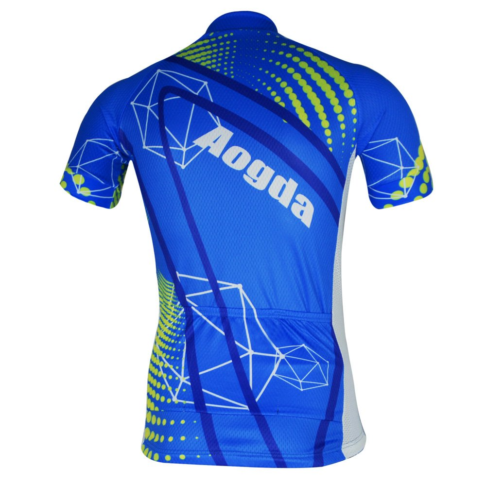 c39fb0a7931 Amazon.com  Aogde Men s Cycling Jersey 3D Silicon Padded Bicycle Clothing  Wear Short Sleeve Cycle Skinsuits Shirt DC038  Sports   Outdoors