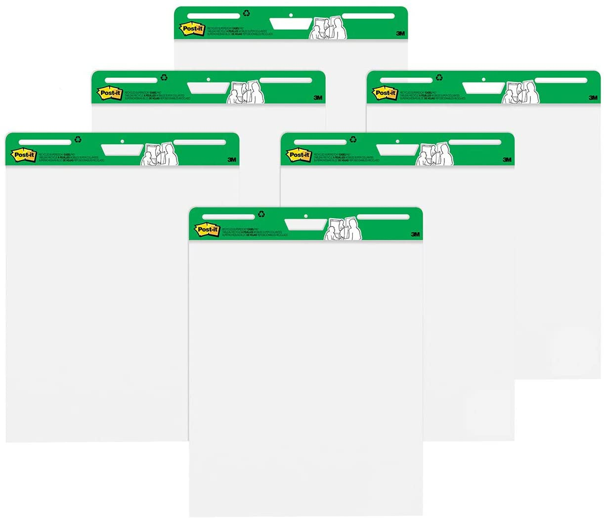 Business Source Self Stick Easel pad qty 4 x 30 Sheets pads 38592 25 x30 NEW lot