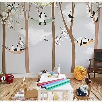 Lzxydbz 3D Wandbilder Große süße Panda Baum Wandbild ...