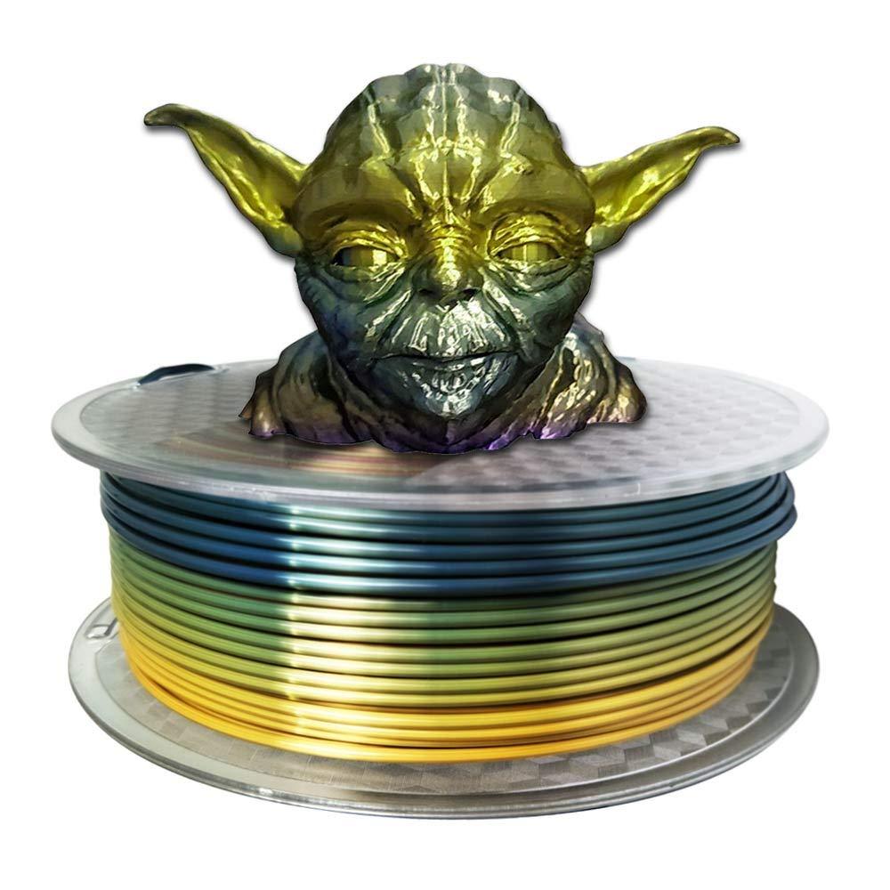 Amazon.com: Filamento para impresora 3D PLA Silk Rainbow ...