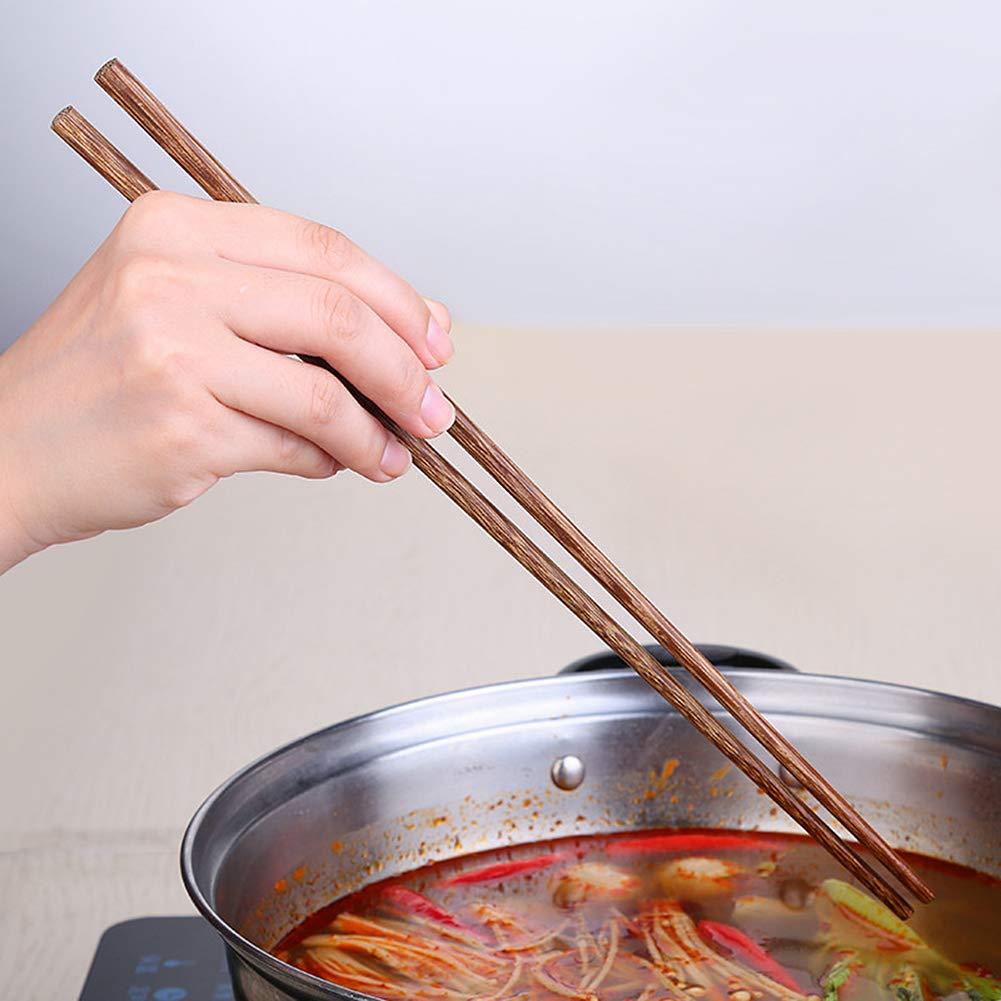 42 cm Hengbaixin estilo chino 1 par de palillos de madera superlargos para cocinar fideos fritos y calientes