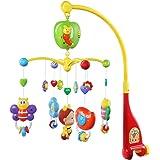 KID'S HOUSEメリー オルゴール モビール ベッドメリー 音楽回転 がらがら ラトル 多機能 寝かしつけ用品 プレゼント