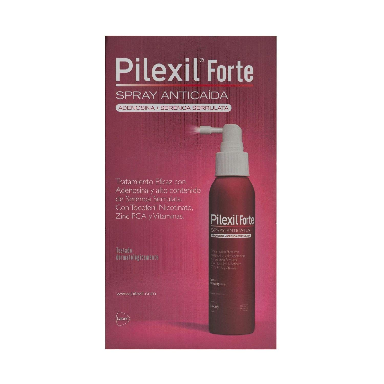 Amazon.com: Pilexil Forte Hair Loss Spray 120ML - Reinforced Formula - Combat Hair Loss and Stregthen Your Hair - Spain: Beauty