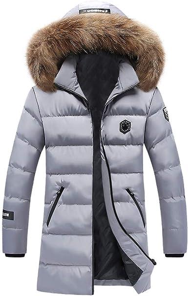 Celucke Herren Winterjacke Mode Warme Steppjacke mit Kapuze