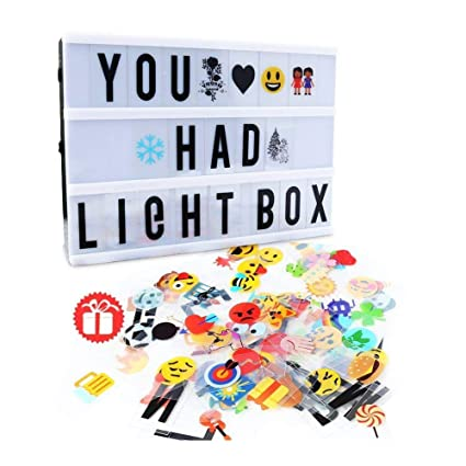 Cinema Light Box,Delicacy A4 Size Cinematic Light Box Light Up LED Letter Box with