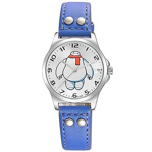 Hermosos Relojes Mediano Reloj Digital de Moda Reloj de Cuarzo Blanco, Personaje de Dibujos Animados para niños: Amazon.es: Relojes