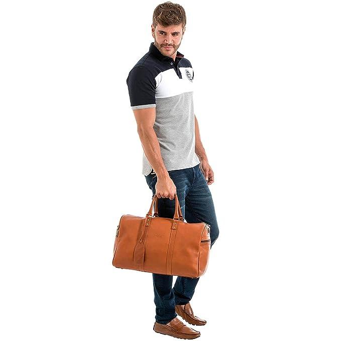 Amazon.com | Velez Mens Genuine Colombian Leather Designer Handbag Travel Bag Doctor Bag Bowling Bag | Bolsos y Carteras de Hombre de Cuero Colombiano Honey ...