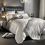 KYLIE MINOGUE GLITTER FADE SILVER SEQUINS 200 TC USA QUEEN SIZE (230CM X 220CM - UK KING SIZE) 3 PIECE BEDDING SET