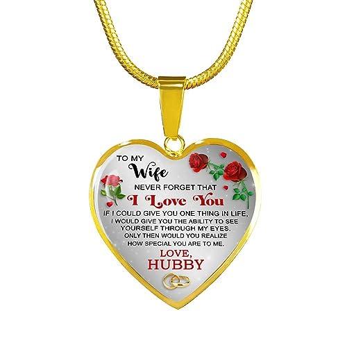 Amazon.com: Collar con colgante de regalo para esposa ...