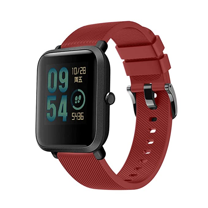 Sinma Solid Sport Watchband Soft Silicon Replacement Bracelet Ajustable Strap for Huami Amazfit Bip Youth Watch