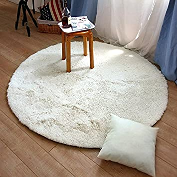Amazon Com Soft Shag Rug Round White Fluffy Rugs Shaggy Rug Floor