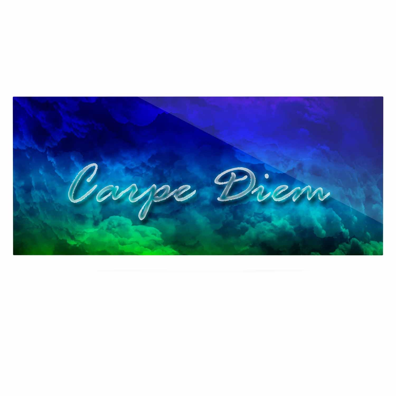 24 x 36 Kess InHouse Shirlei Patricia Muniz Carpe Diem Digital Green Luxe Rectangle Panel