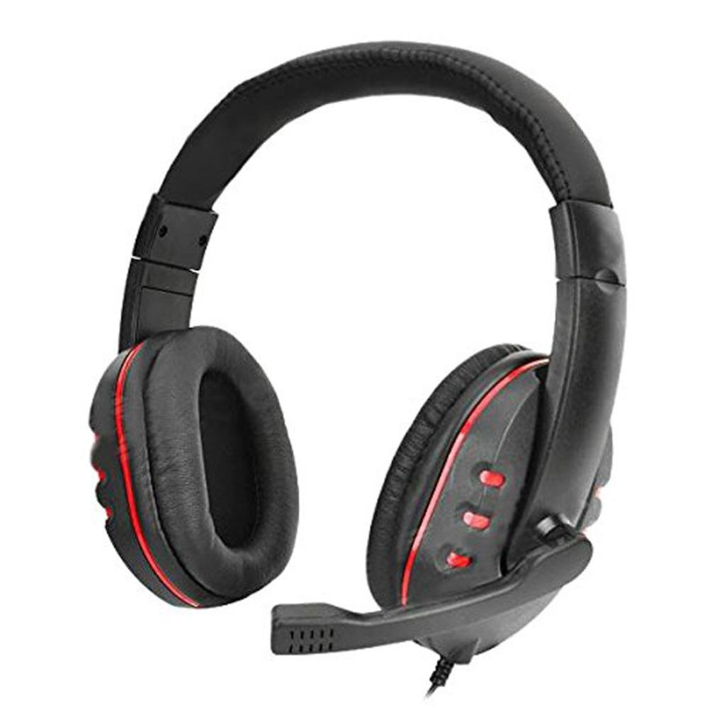 Sandistore HI-FI Sound Quality Wired Gaming Headset for PS4, PC, Noise Cancelling Over Ear Headphones with Mic, Soft Memory Earmuffs for Laptop Mac