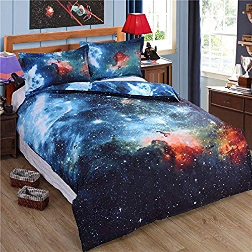 Galaxy Bedding Set Close to Galaxy Realize Your Dream Easier Duvet Cover//Pillow Case Queen Size LoveHome