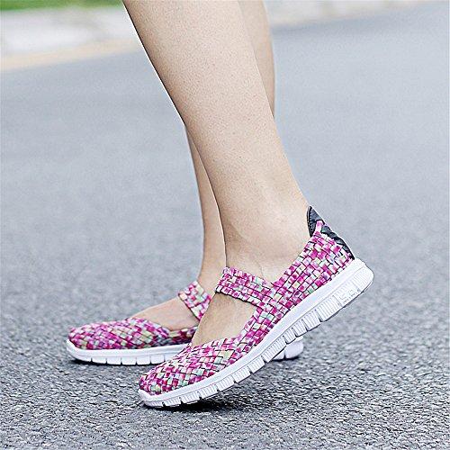 Respirant Mode Sur Marche Été De Airavata Léger Rose1 Chaussures Poids Femmes Glisser Pour AnpY4