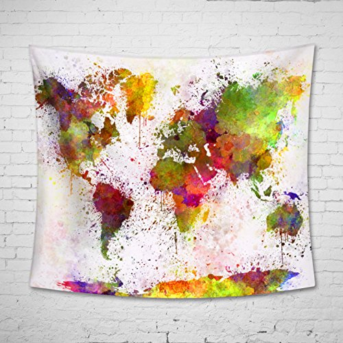 Uphome Abstract Splatter Painting Tapestry