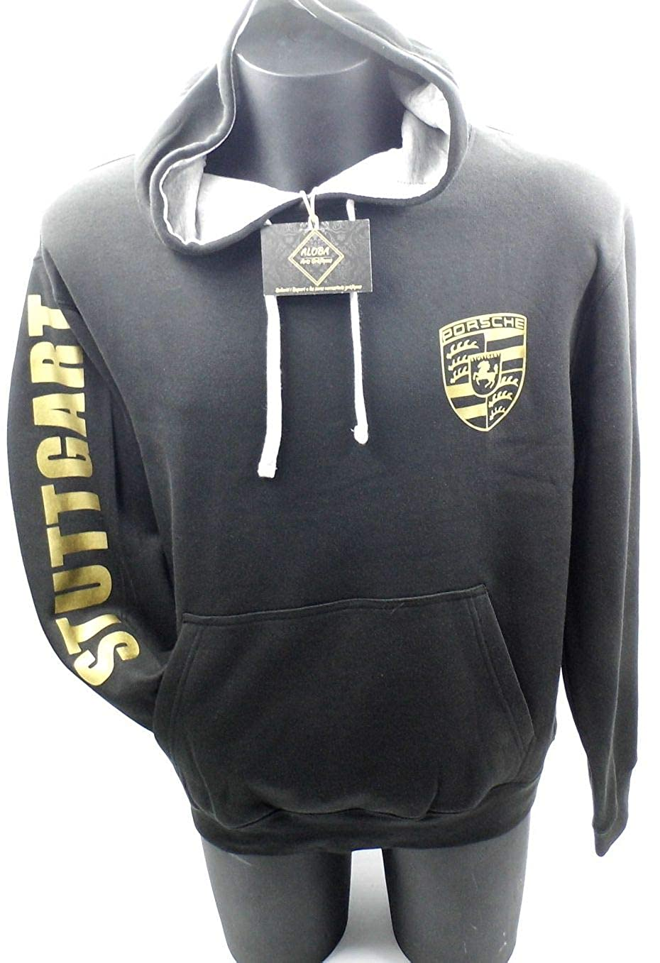 ALOBA Porsche Stuttgart Sweatshirt, Gute Qualität Gold Effect, komplett in Europa hergestellt, europäische Größe