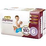 Huggies Supreme Pañal Desechable para Bebé, Etapa 6 Niño, Caja con 180 Piezas, Ideales para niños de más de 13.5 kg