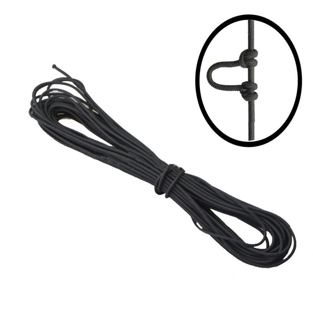 Yiwa - Corde de tir à l'arc en nylon haute résistance avec boucle en D (3m)