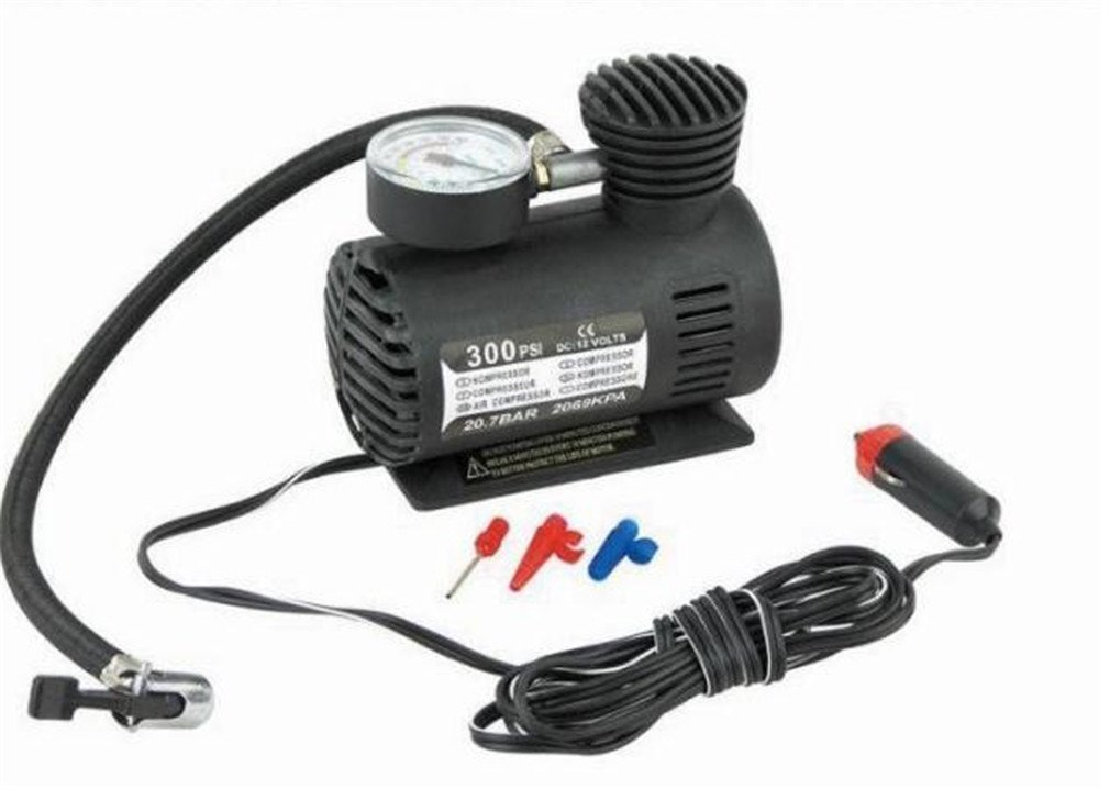 Amazon.com: Rumfo 300/250PSI Miniature Air Pump Car Tire Inflator With Pressure Gauge: Portable 12v Air Compressor And Tire Pump - Small Compressor Tanks ...