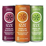 IZZE Sparkling Juice, 4 Flavor Variety Pack, 8.4 Ounce (Pack of 24) by Izze Soda