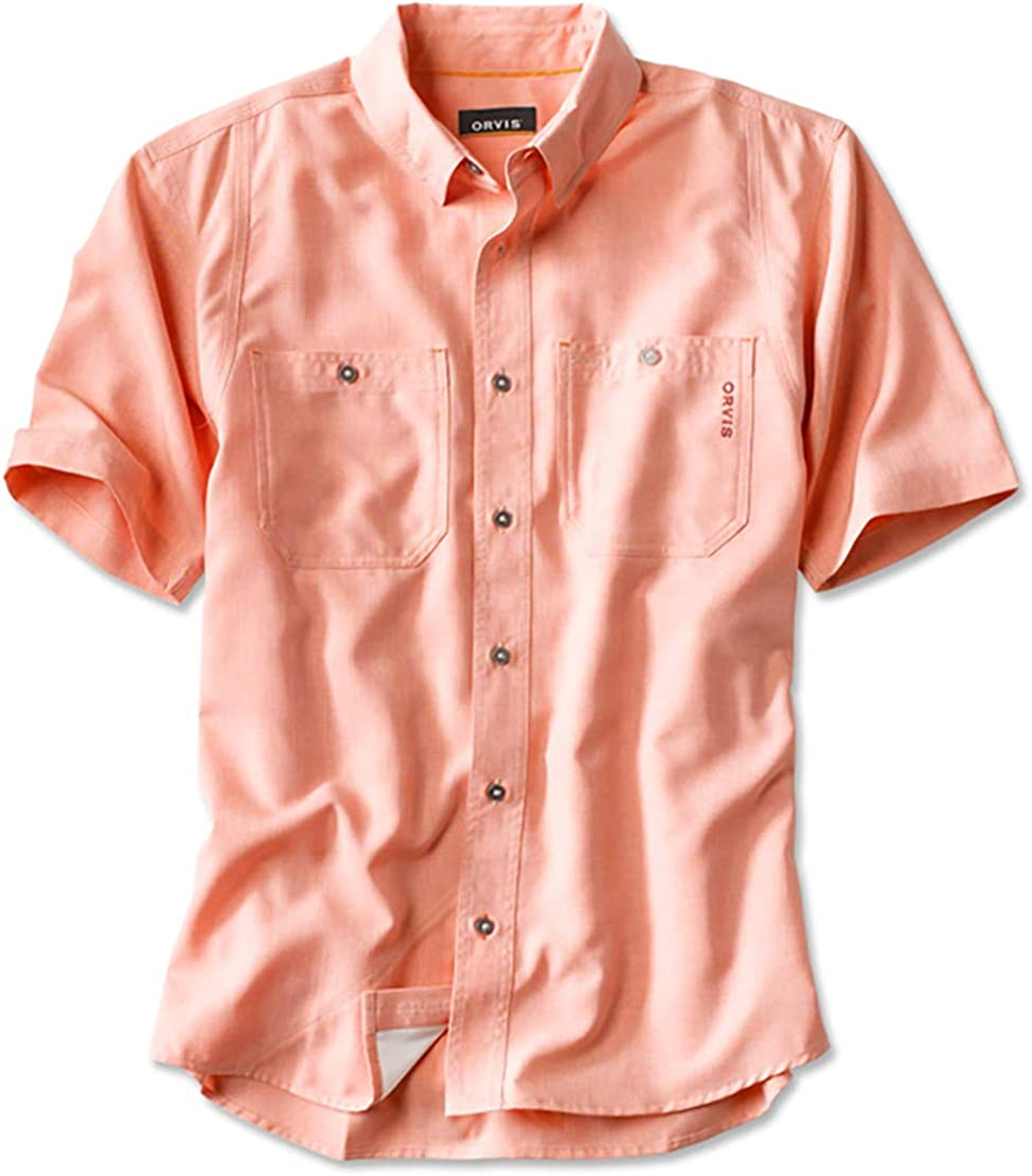 Orvis Tech Chambray - Camisa de Trabajo de Manga Corta para Hombre - Rosa - X-Large: Amazon.es: Ropa y accesorios
