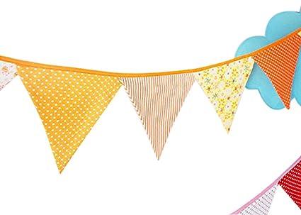 amazon com ellen tool fabric bunting banners set of 12 100