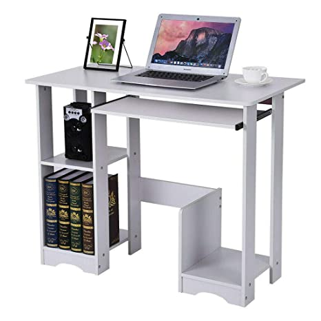 Amazon.com: TNPSHOP Escritorio de ordenador negro mesa ...