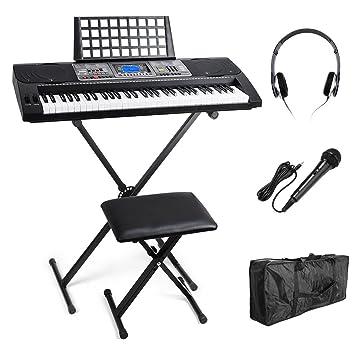 Portable de 61 teclas MK 816 USB MIDI (App) electrónica Keyboard iluminación Teclado Piano