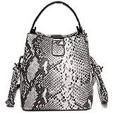 Snakeskin Bucket Purse Bag for Women,Envelope Clutch Bag Retro Evening Bag Handbag Shoulder Crossbody Bag