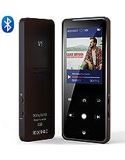 Reproductor MP3 Bluetooth, Vorstik HiFi Reproductor de Música Lossless Sonido, Reproductor de Audio Digital 2.4 Pulgadas HD con Radio FM, hasta 90 Horas de Reproducción, 128 GB de Memoria Externa.