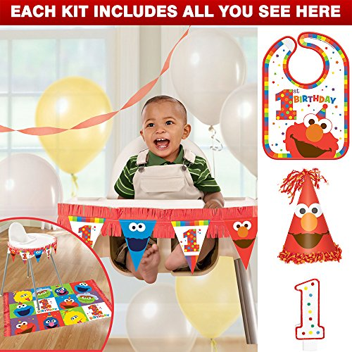 Costume SuperCenter Elmo Turns One Smash Cake Kit ()