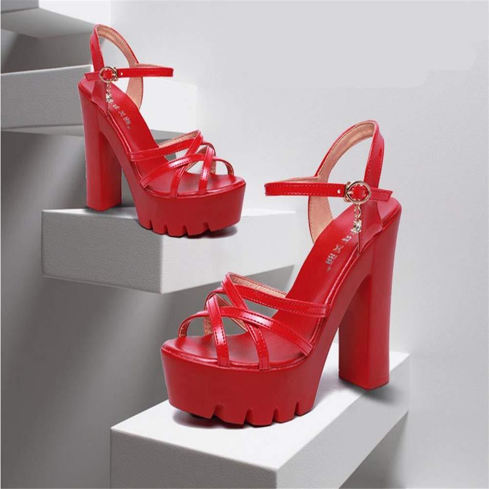 1b3341a99f43a Gusha Summer Platform Sandals Popular Women's Shoes Thick Heel Shoes