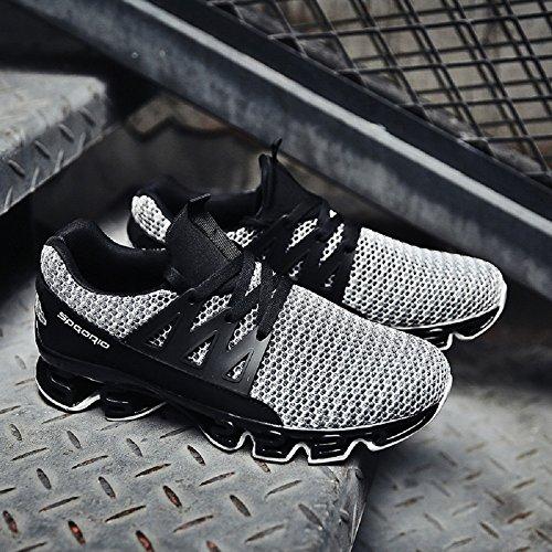 Scarpe Running Grigio Bangbei Sneakers Uomo Sportive Basse da Traspirante dwgg8Xqx