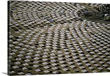 Great BIG Canvas Gallery-Wrapped Canvas entitled Field of solar-power 10 megawatt heliostat mirrors, Daggett, California