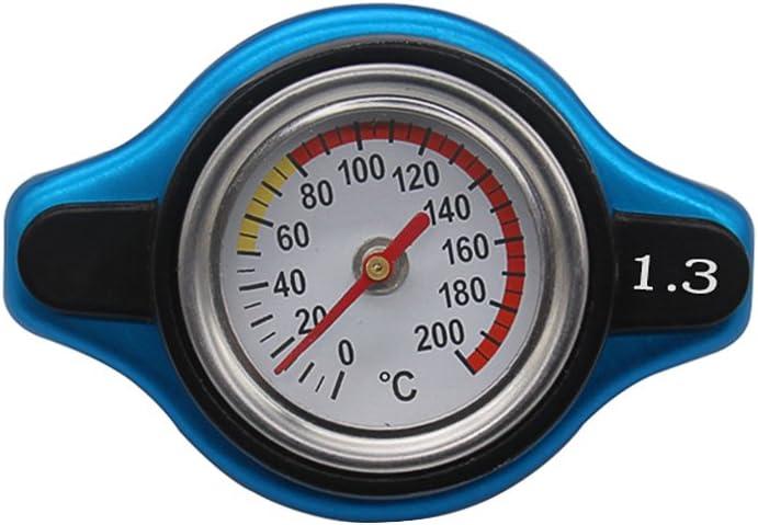KKmoon Universale Thermo Termostatica Coperchio del Tappo del Radiatore con Calibro di Temperatura dellAcqua 0,9BAR