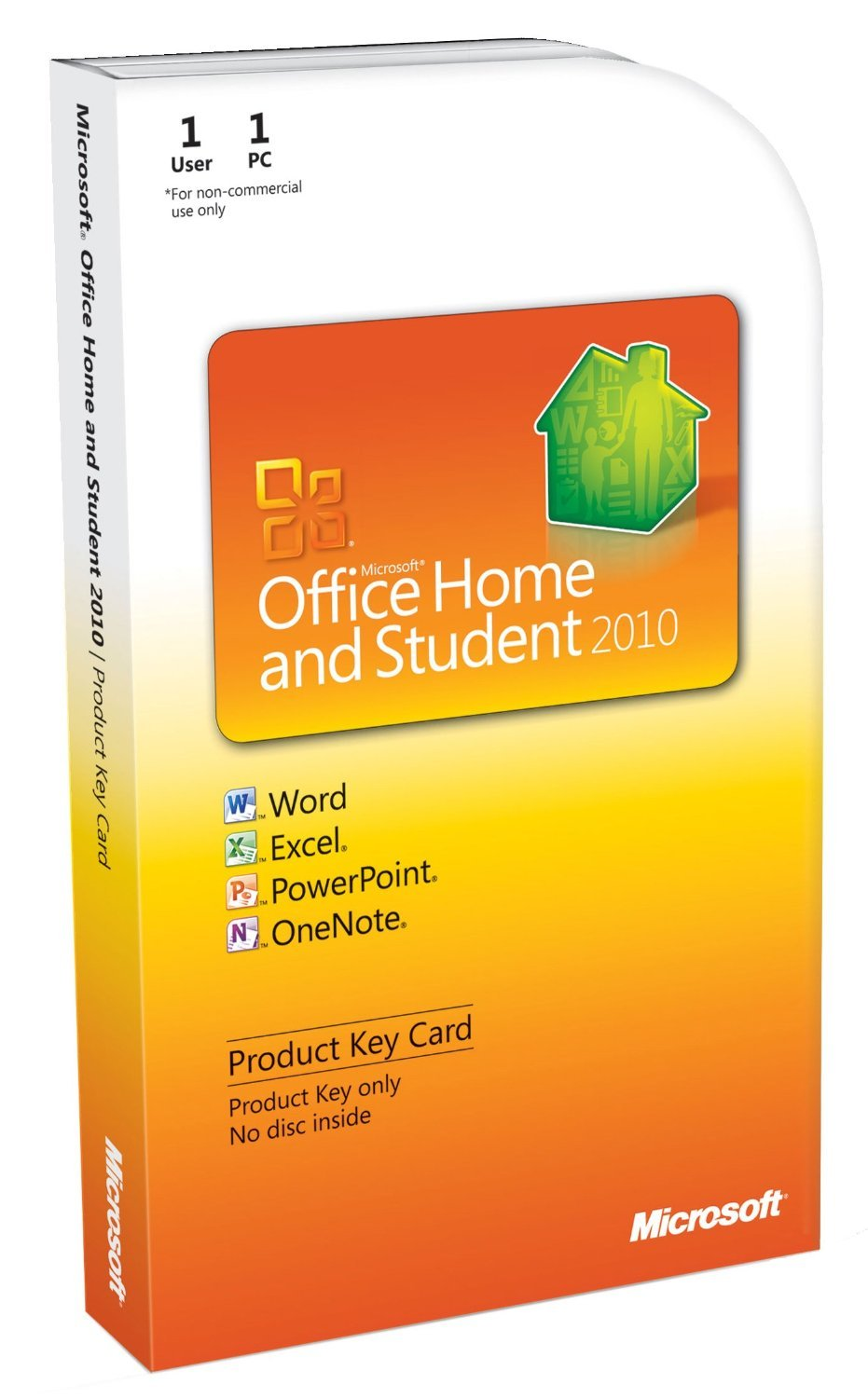 Microsoft Office Home & Student 2010 Product Key Card by Microsoft