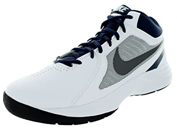 a9d4bc247277 NIKE THE OVERPLAY VIII HI SNEAKERS MEN SHOES WHITE NAVY 637382-103 SIZE 12  NEW