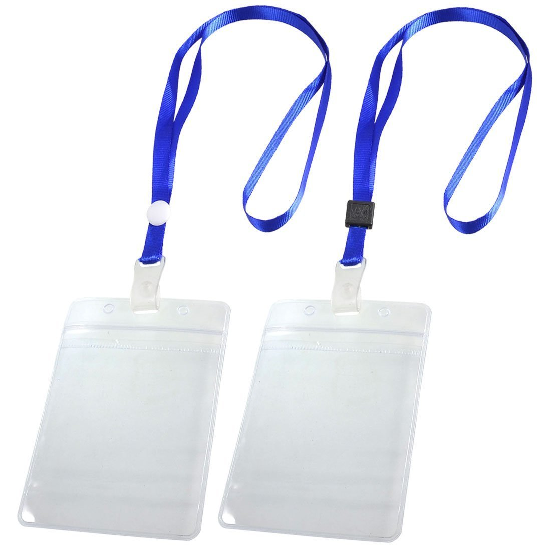 10X Vertical Leather Business ID Badge Card Holder W// Long Lanyard Neck Strap US