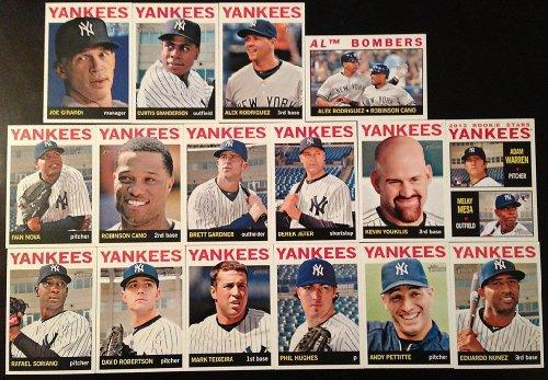 2013 New York Yankees Topps Heritage Baseball Complete Mint 16 Basic Card Team Set