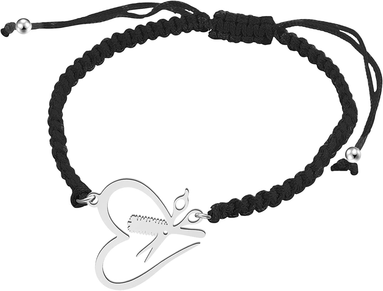 SEIRAA Hair Stylist Gift Hair Stylist Adjustable Handmade BraceletScissor and Comb Bracelet Barbers Graduation Gift